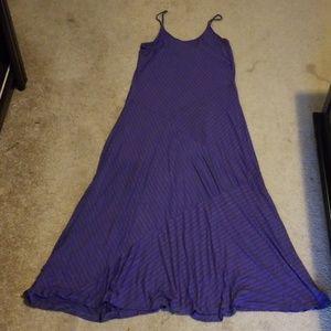 NWOT Stripe Adjustable Straps Maxi Dress